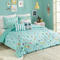 Urban Playground Raining Pom 5-Piece Full/Queen Comforter Set in Blue
