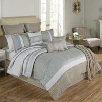 Umbria 14-Piece California King Comforter Set in Blue