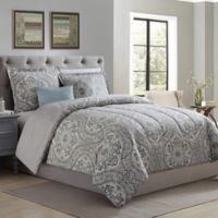 Camden Medallion Reversible 4-Piece Twin Comforter Set in Sage