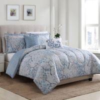 Sofia Floral Reversible 4-Piece Twin Comforter Set
