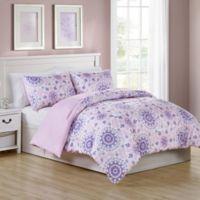 VCNY Home Pretty Dreamer Medallion Reversible Full Comforter Set