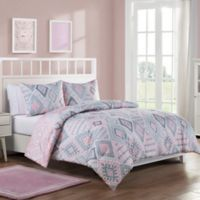 VCNY Home Dream On Bohemian Reversible Twin Comforter Set