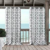 Marin 95-Inch Grommet Indoor/Outdoor Window Curtain Panel in Grey