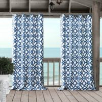 Marin 108-Inch Grommet Indoor/Outdoor Window Curtain Panel in Blue