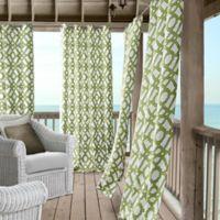 Marin 95-Inch Grommet Indoor/Outdoor Window Curtain Panel in Green
