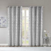 Intelligent Design Raina 84-Inch Grommet Room Darkening Window Curtain Panel in Grey