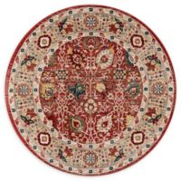 Momeni Lenox LE-04 - 5' Round Area Rug in Red