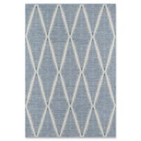 Erin Gates River Hand Woven 2' x 3' Accent Rug in Denim