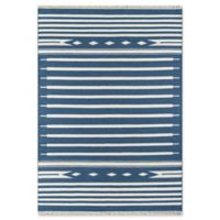 Erin Gates Thompson Stripe Hand Woven 7'6 x 9'6 Area Rug in Denim