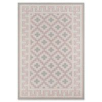 Erin Gates Thompson Brookline Hand Woven 7'6 x 9'6 Area Rug in Pink