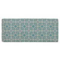 Commonwealth Home Fashions Keene Outdoor Bench Seat Cushion in Aqua