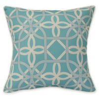 Commonwealth Home Fashions Keene Square Indoor/Outdoor Throw Pillow in Aqua