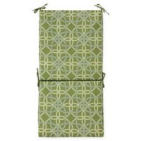 Commonwealth Home Fashions Keene Outdoor High Back Cushion in Green