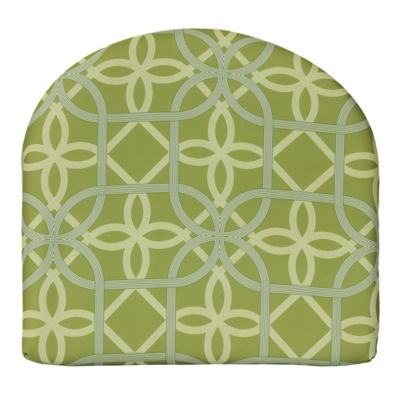Commonwealth Home Fashions Keene Arm Chair Cushion In Green