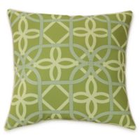 Commonwealth Home Fashions Keene Square Indoor/Outdoor Throw Pillow in Green