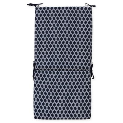 Commonwealth Home Fashions Basketweave Outdoor High Back Chair Cushion In  Navy