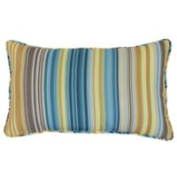 Commonwealth Home Fashions Mosaic Stripe Oblong Outdoor Throw Pillow
