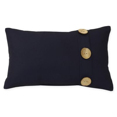 Commonwealth Home Fashions Palm Decorative Lumbar Pillow In Navy