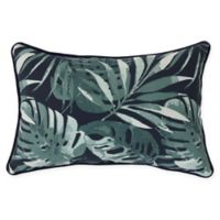 Commonwealth Home Fashions Palm Decorative Lumbar Pillow in Floral