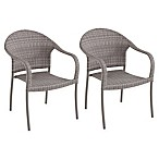 Barrington Wicker Stacking Chairs in Oyster (Set of 2)