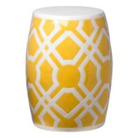 Emissary Labyrinth Garden Stool/Table in Yellow