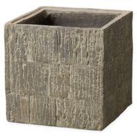 Emissary Medium Square Textured Planter Box in Brown