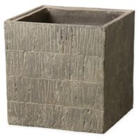 Emissary Large Square Textured Planter Box in Brown