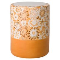 Emissary Fleur Garden Stool in Orange