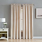Velvet 84-Inch Rod Pocket Window Curtain Panel Pair in Taupe