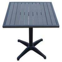 Summerwinds 28-Inch Square All-Weather Steel Bistro Table in Black