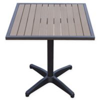 Summerwinds 28-Inch Square All-Weather Steel Bistro Table in Walnut