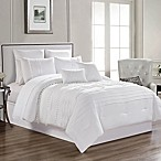 Zoey 12-Piece King Comforter Set in White