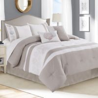 Cambay 12-Piece King Comforter Set in Taupe/Ivory