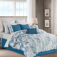 Merane 12-Piece Queen Comforter Set in Blue