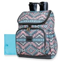 Kelty Aztec-Style Top Zip Backpack Diaper Bag in Pink