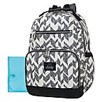 Kelty Super Cooler Chevron Backpack Diaper Bag in Grey