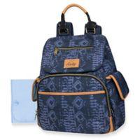 Kelty Drawstring Denim Look Backpack Diaper Bag in Blue