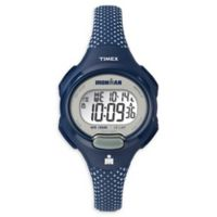 Timex® Essential® Classic 10 Ladies' 35mm Mid-Size Watch in Blue/White Resin