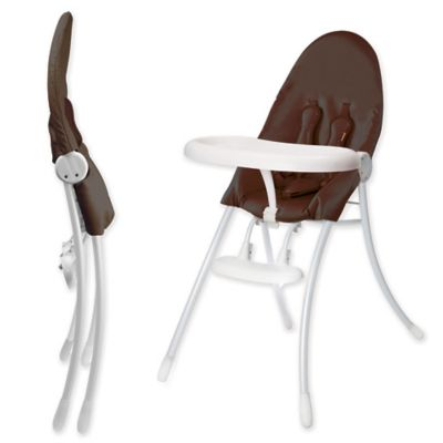 High Chairs U003e Bloom® Nano™ Urban High Chair In White/Henna Brown