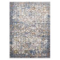 Modway Minu 4' x 6' Flat-Weave Area Rug in Blue/Yellow