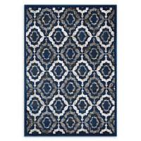 Modway Rustic Vintage Trellis 5' x 8' Area Rug in Ivory/Blue