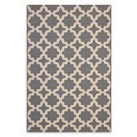 Modway Moroccan Trellis 8' x 10' Flat-Weave Indoor/Outdoor Area Rug in Grey/Beige