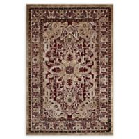 Modway Grania Ornate 8' x 10' Flat-Weave Area Rug in Burgundy/Tan