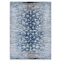 Modway Distressed Floral Lattice 5' x 8' Area Rug in Blue