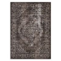 Modway Rustic Floral Medallion 5' x 8' Area Rug in Antique Light Brown/Dark Brown