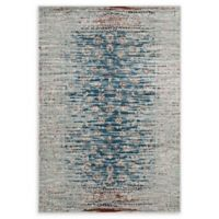 Modway Hesper Distressed 5' x 8' Flat-Weave Area Rug in Teal/Beige