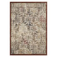 Modway Hester Ornate Turkish 8' x 10' Area Rug in Tan/Walnut Brown