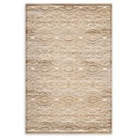Modway Kennocha Waves 5' x 8' Flat-Weave Area Rug in Tan/Cream