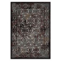 Modway Westia Ornate 5' x 8' Area Rug in Brown/Silver