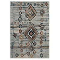 Modway Jenica Tribal 8' x 10' Area Rug in Silver/Blue/Beige/Brown